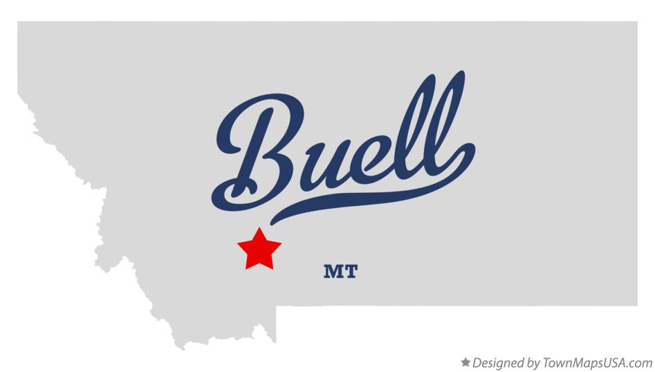 Map of Buell Montana MT