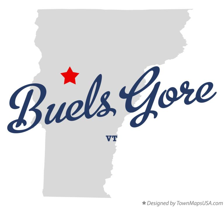 Map of Buels Gore Vermont VT
