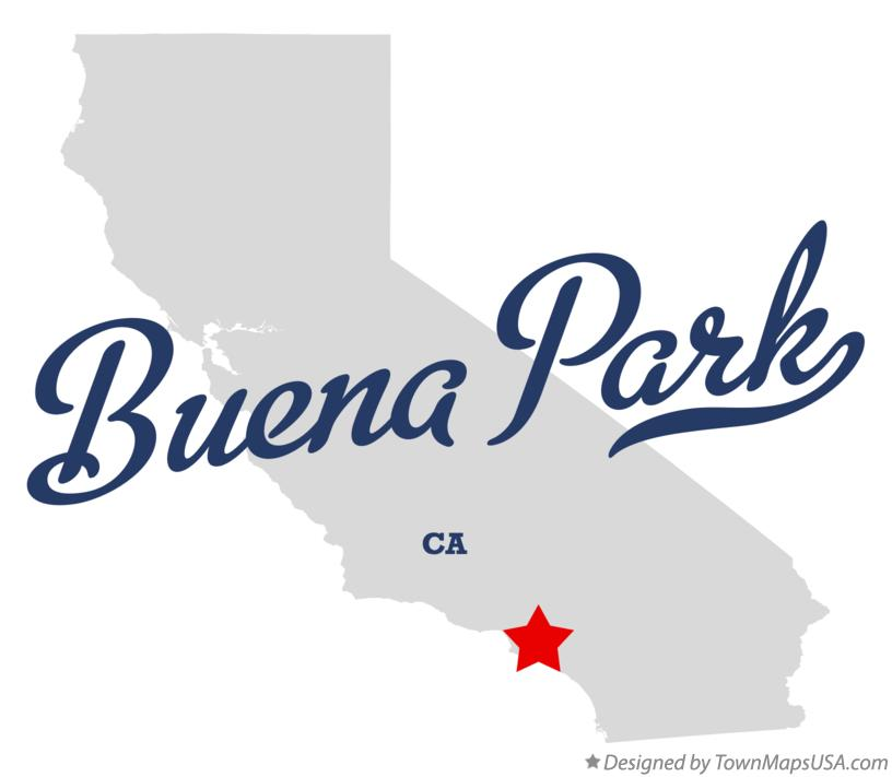 Map of Buena Park California CA