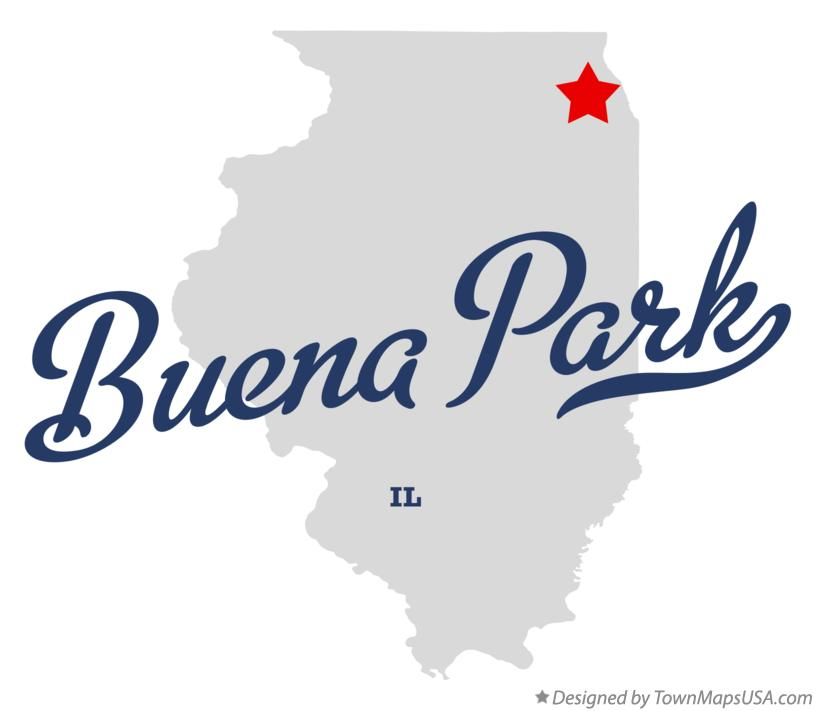 Map of Buena Park Illinois IL