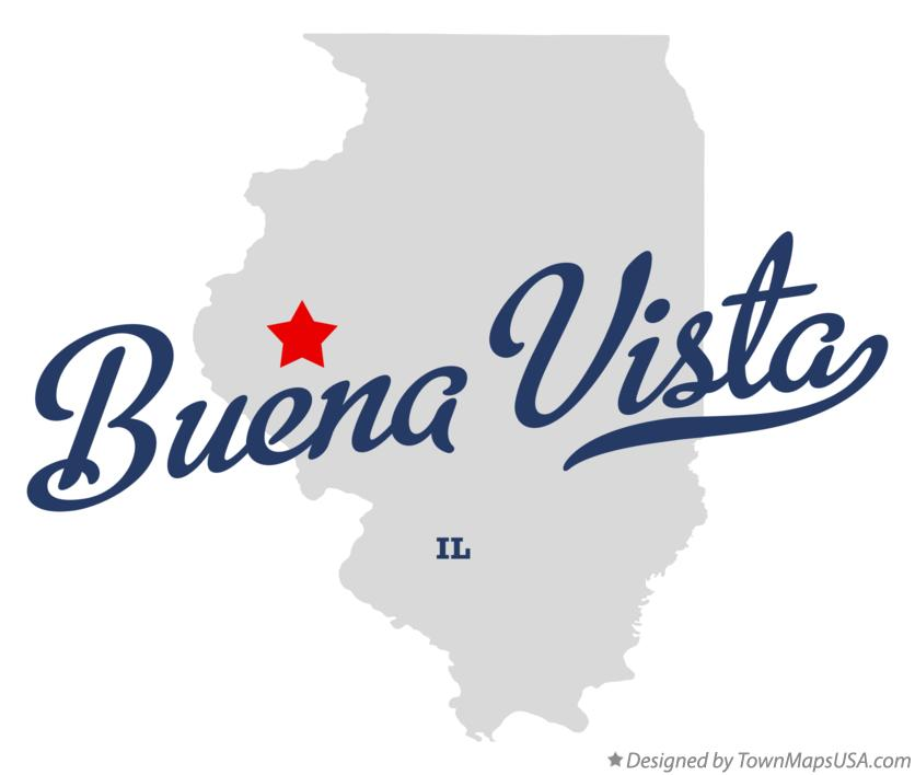 Map of Buena Vista Illinois IL