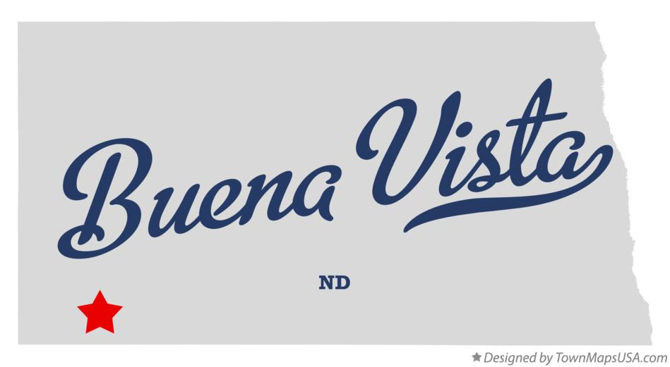 Map of Buena Vista North Dakota ND