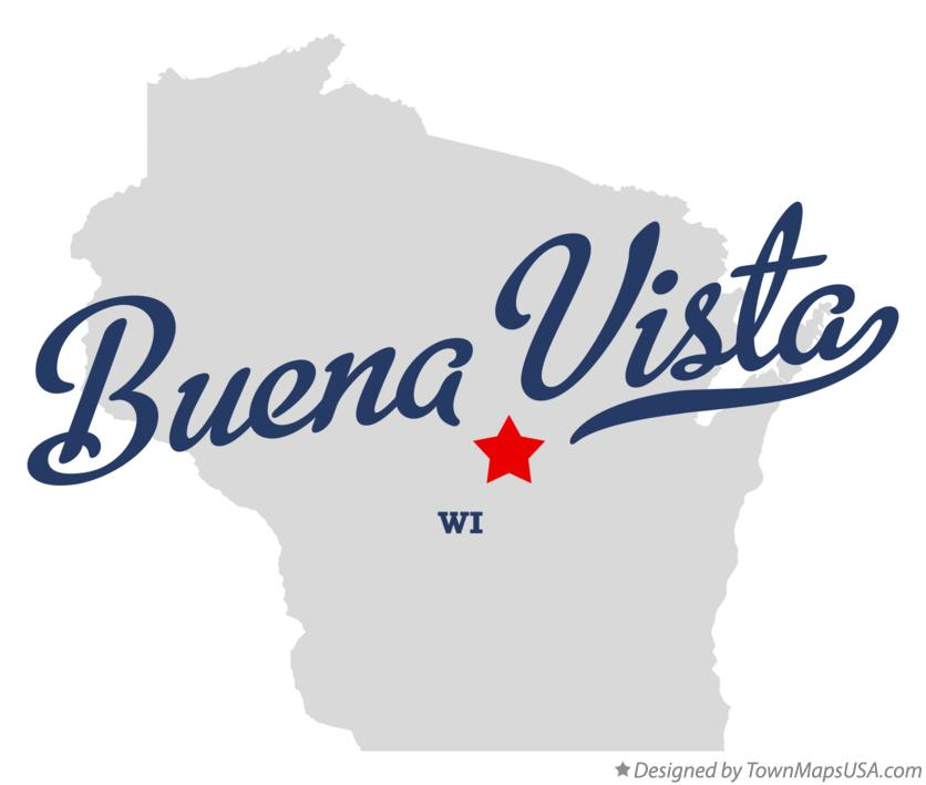 Map of Buena Vista Wisconsin WI