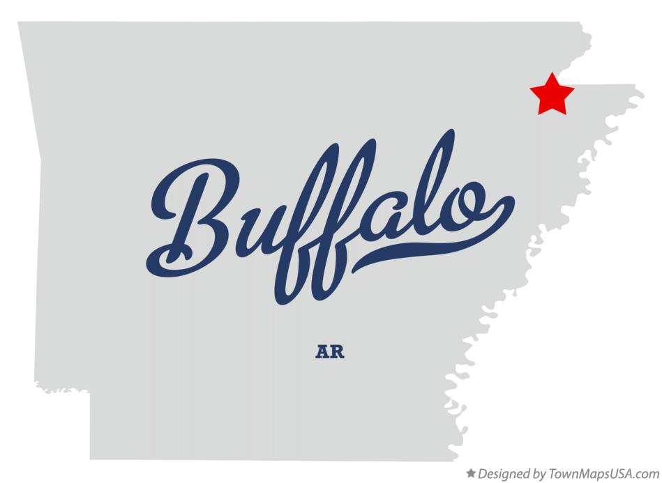 Map of Buffalo Arkansas AR