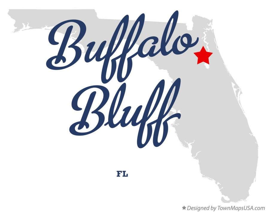 Map of Buffalo Bluff Florida FL