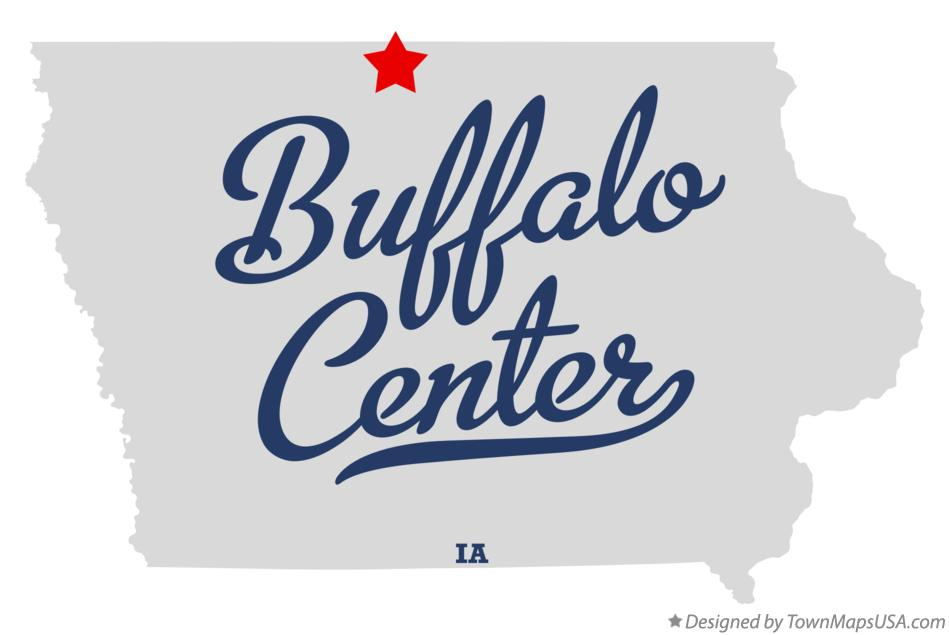 Map of Buffalo Center Iowa IA