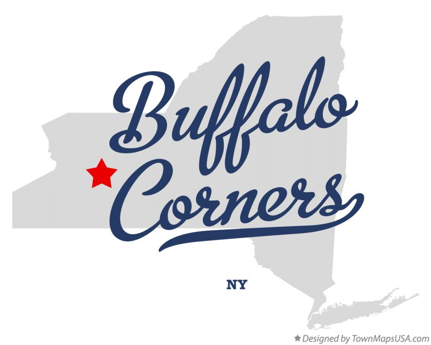 Map of Buffalo Corners New York NY
