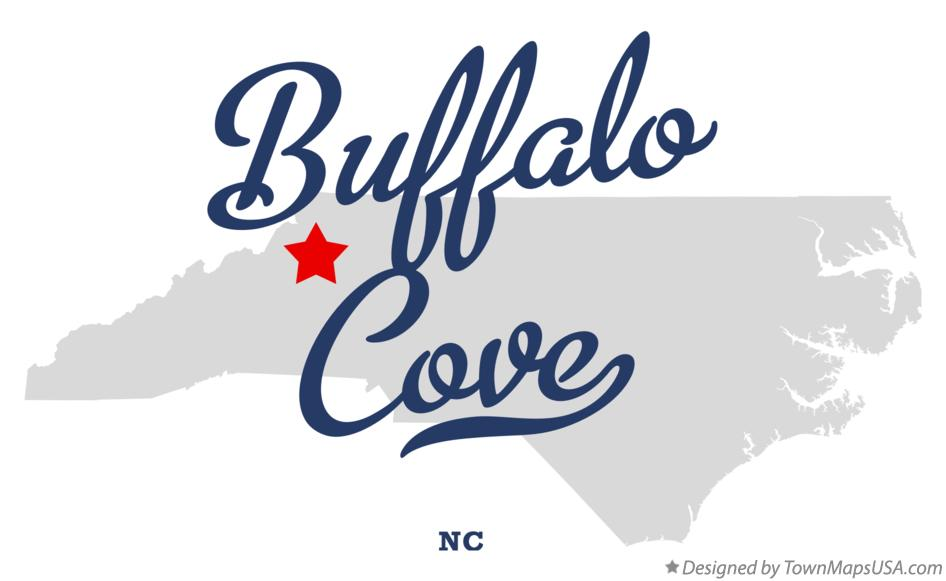 Map of Buffalo Cove North Carolina NC