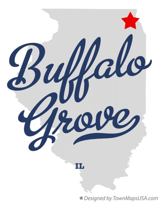 Map of Buffalo Grove Illinois IL