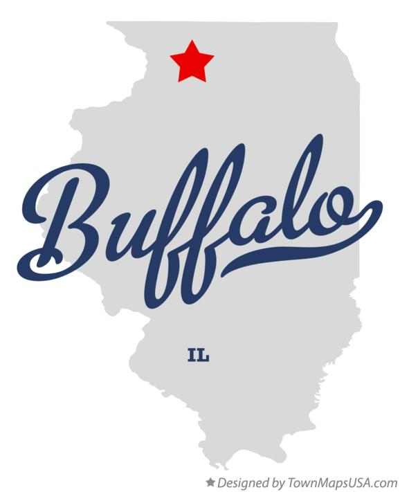 Map of Buffalo Illinois IL