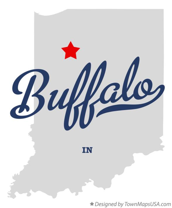 Map of Buffalo Indiana IN