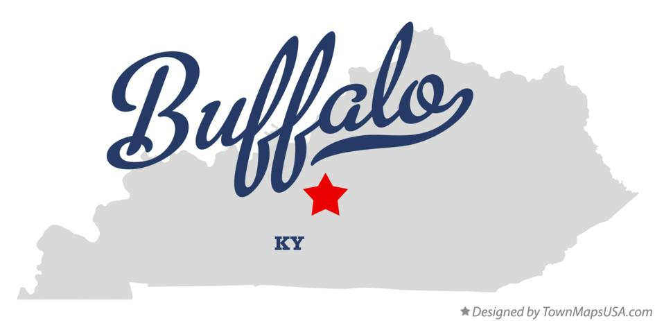 Map of Buffalo Kentucky KY