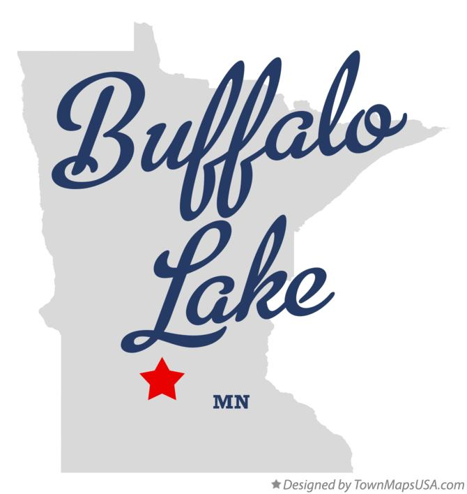 Map of Buffalo Lake Minnesota MN