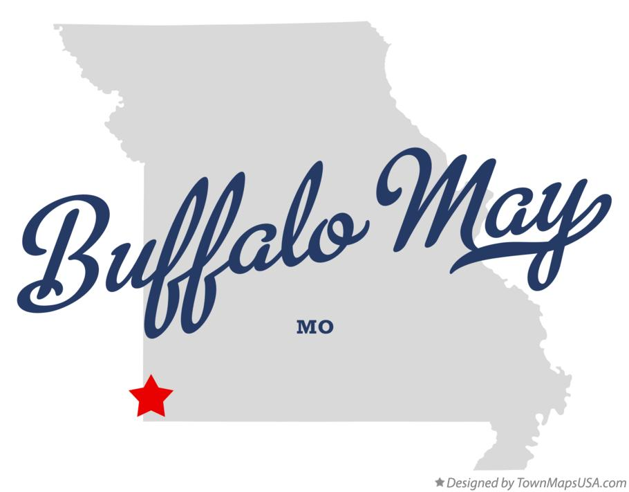 Map of Buffalo May Missouri MO