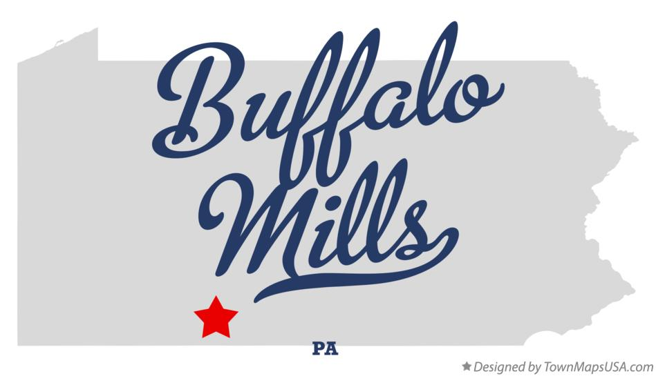 Map of Buffalo Mills Pennsylvania PA