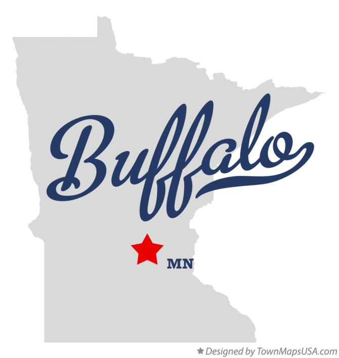 Map of Buffalo Minnesota MN