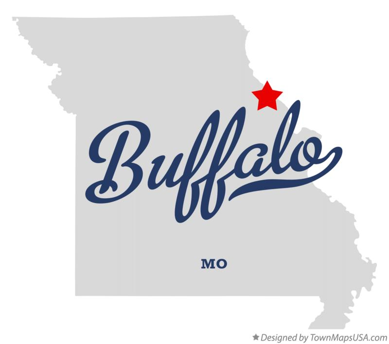 Map of Buffalo Missouri MO