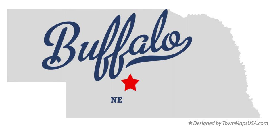Map of Buffalo Nebraska NE