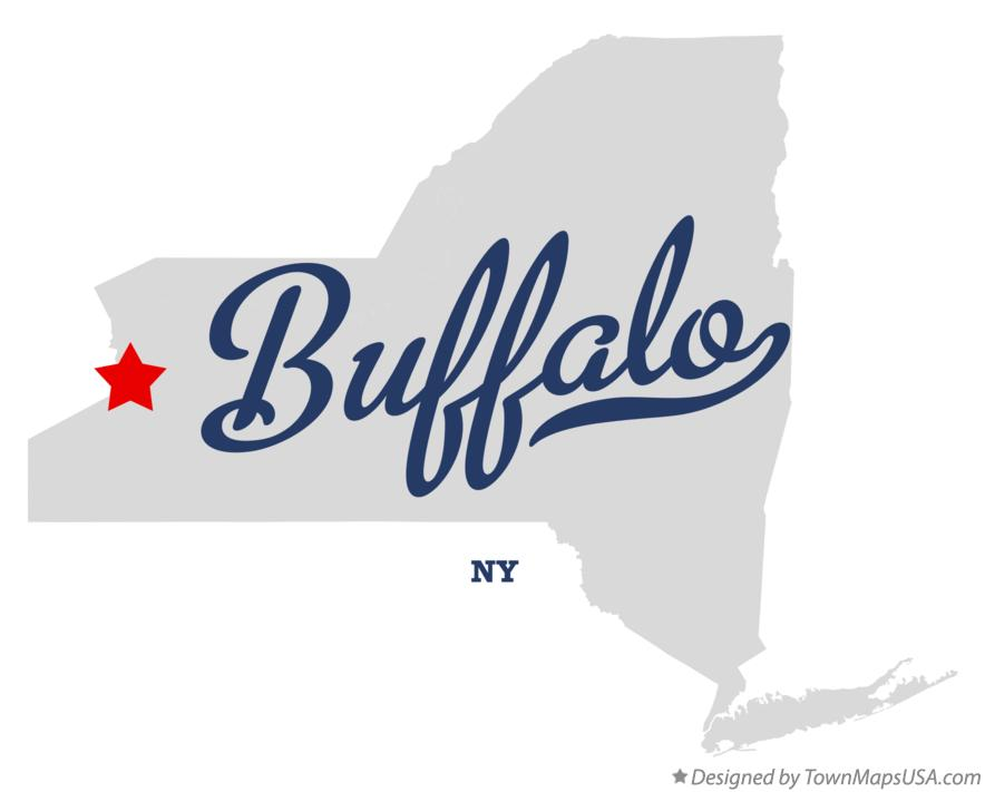 Map of Buffalo New York NY
