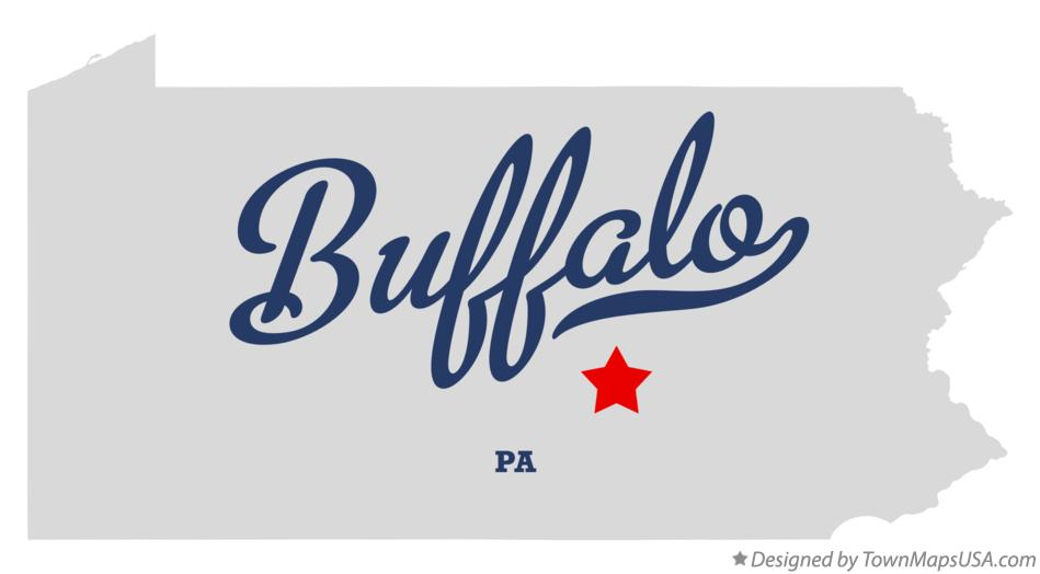 Map of Buffalo Pennsylvania PA