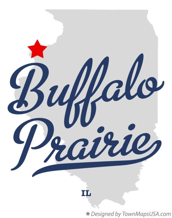 Map of Buffalo Prairie Illinois IL