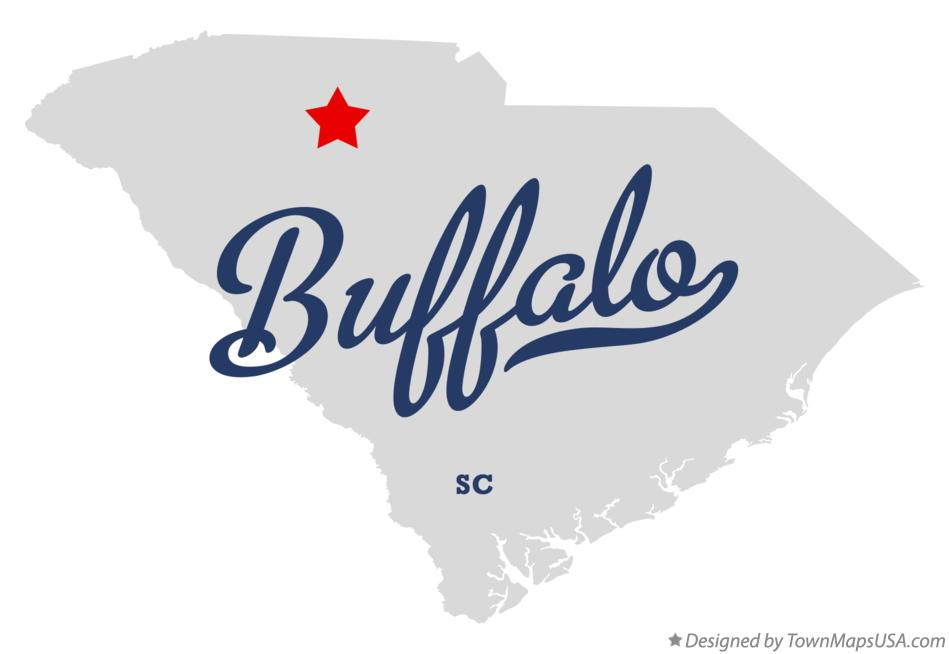 Map of Buffalo South Carolina SC