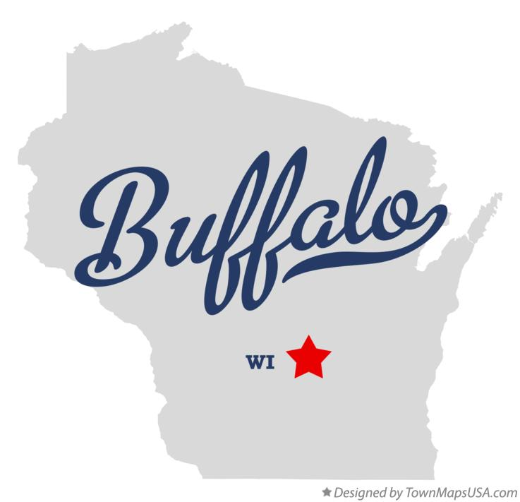 Map of Buffalo Wisconsin WI