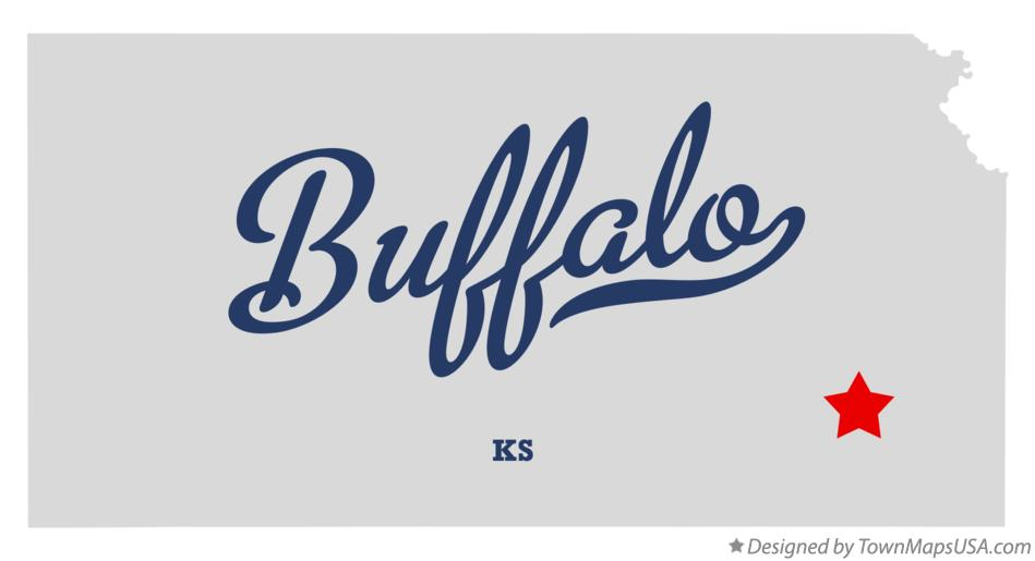 Map of Buffalo Kansas KS