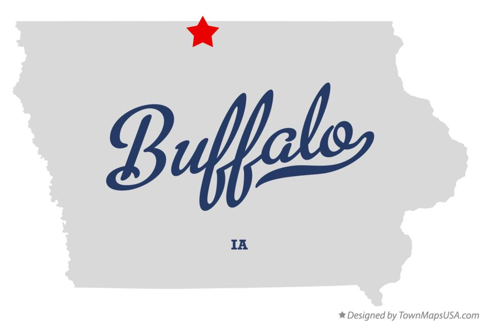 Map of Buffalo Iowa IA