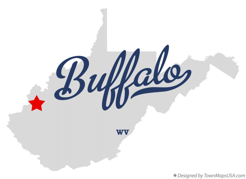 Map of Buffalo West Virginia WV