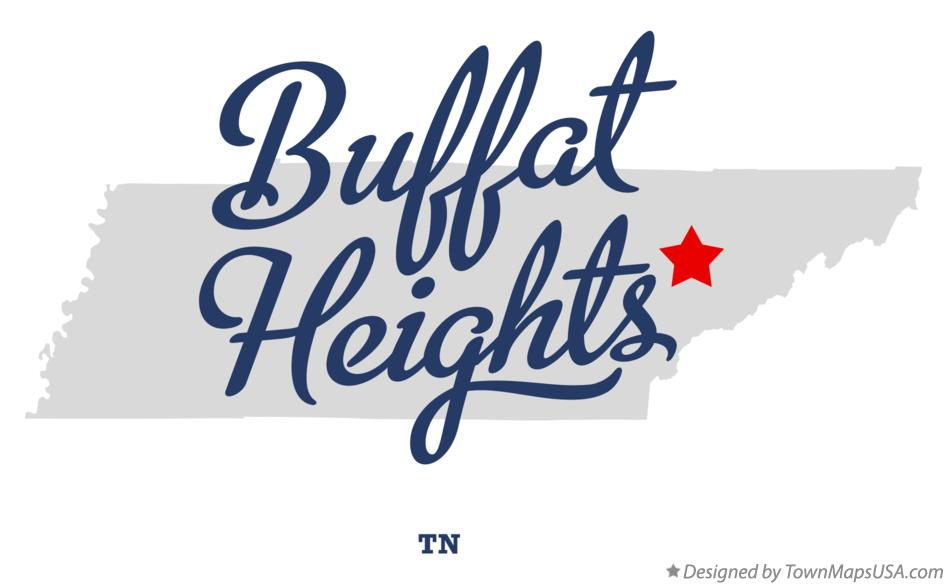 Map of Buffat Heights Tennessee TN