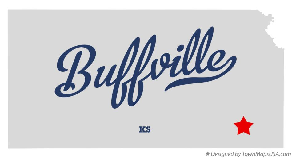 Map of Buffville Kansas KS