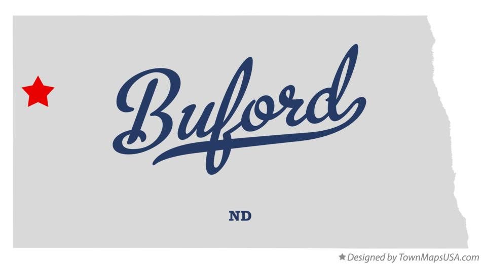 Map of Buford North Dakota ND