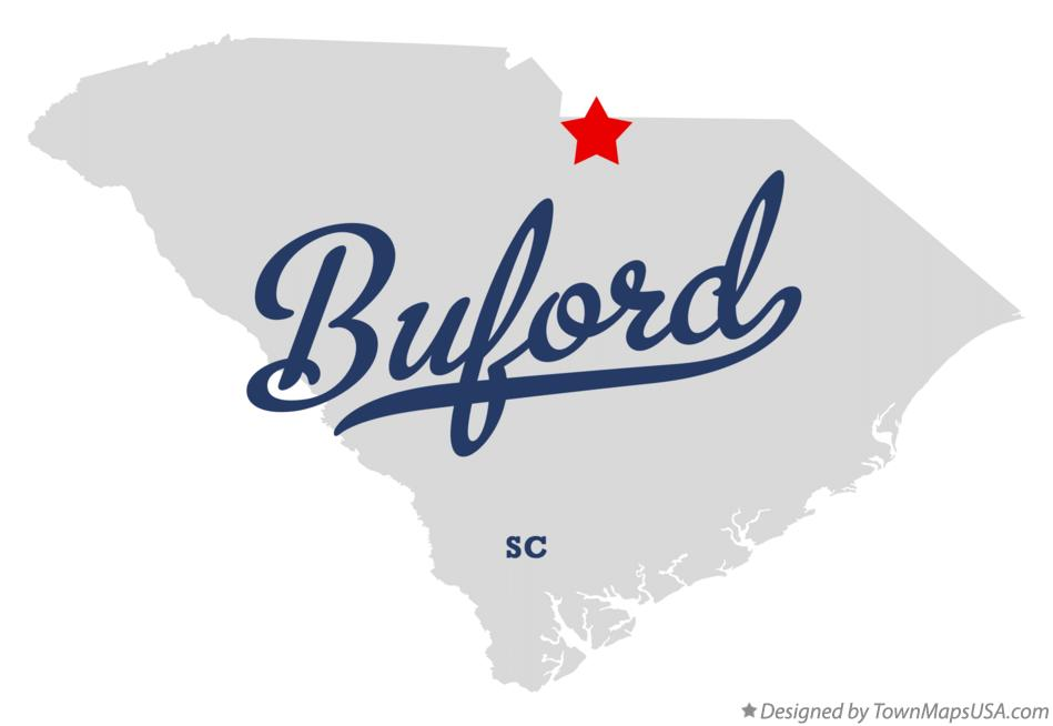 Map of Buford South Carolina SC