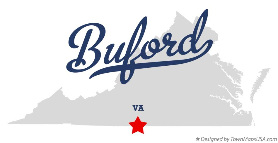 Map of Buford Virginia VA