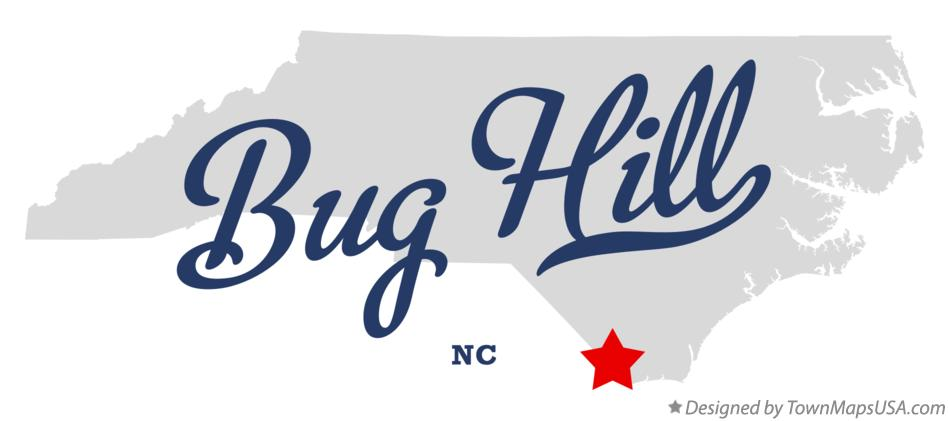 Map of Bug Hill North Carolina NC