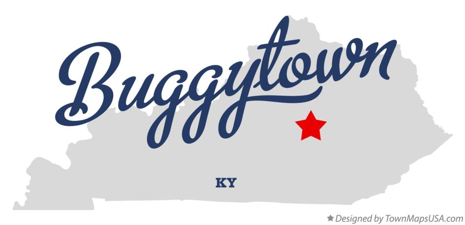 Map of Buggytown Kentucky KY
