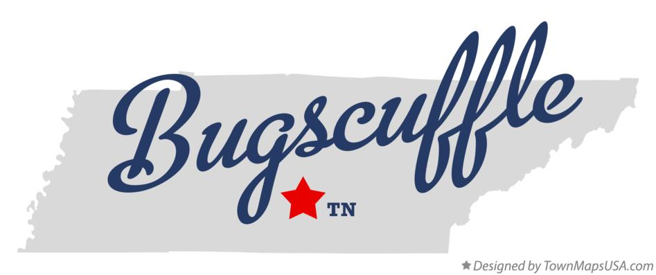 Map of Bugscuffle Tennessee TN