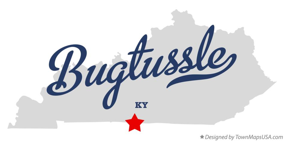Map of Bugtussle Kentucky KY