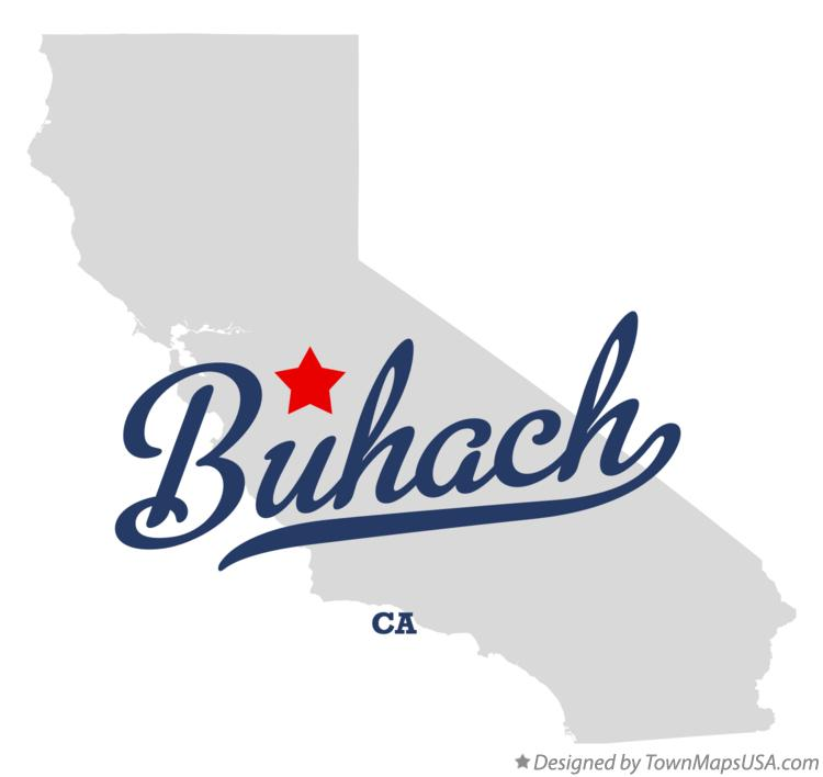 Map of Buhach California CA