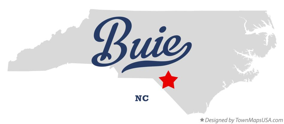 Map of Buie North Carolina NC