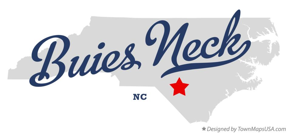Map of Buies Neck North Carolina NC