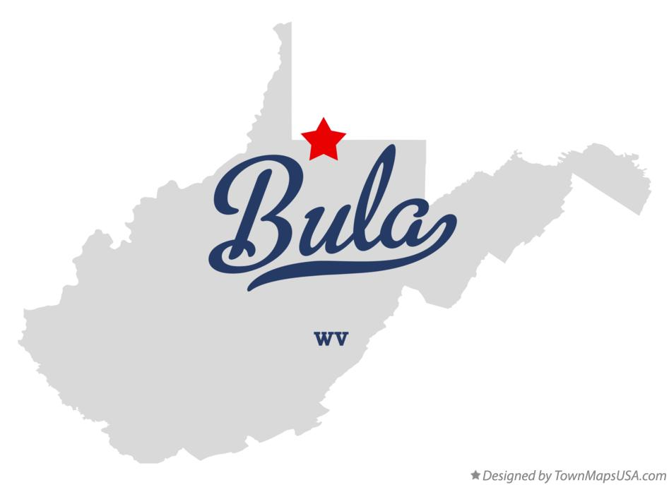 Map of Bula West Virginia WV