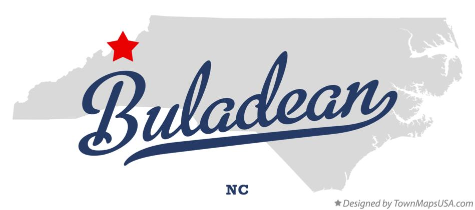 Map of Buladean North Carolina NC