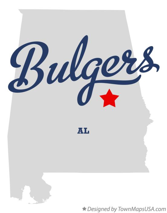 Map of Bulgers Alabama AL