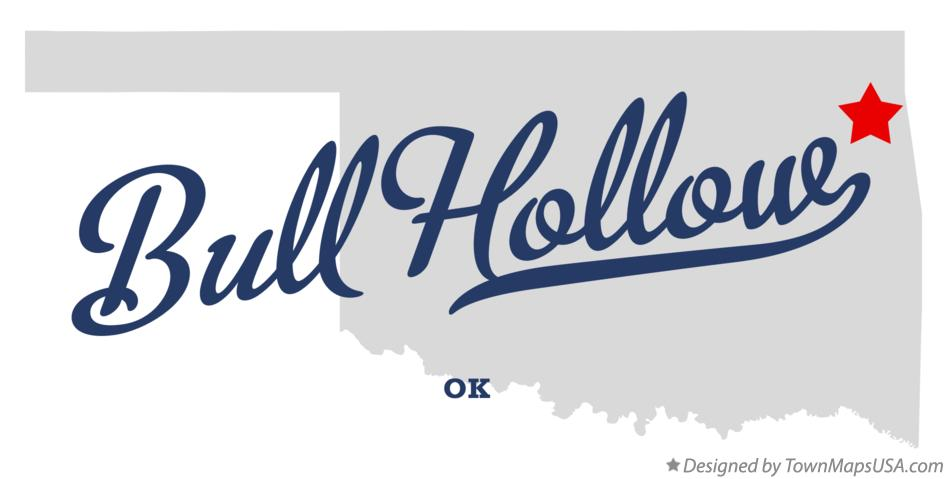 Map of Bull Hollow Oklahoma OK