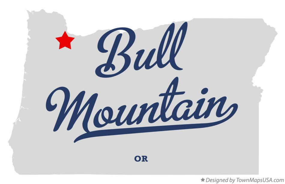Map of Bull Mountain Oregon OR