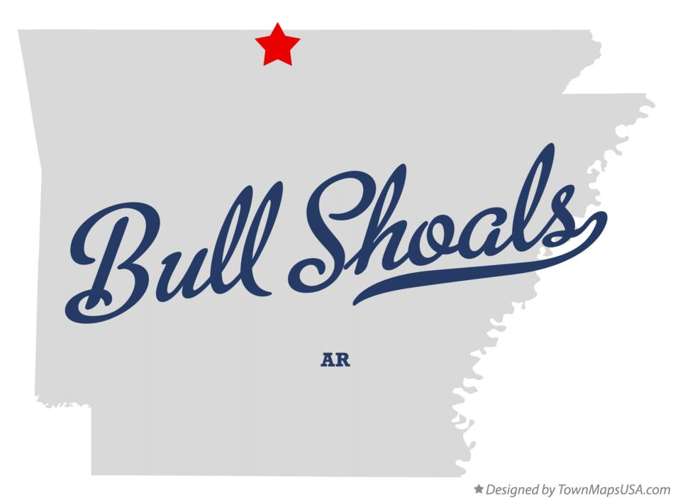 Map of Bull Shoals Arkansas AR
