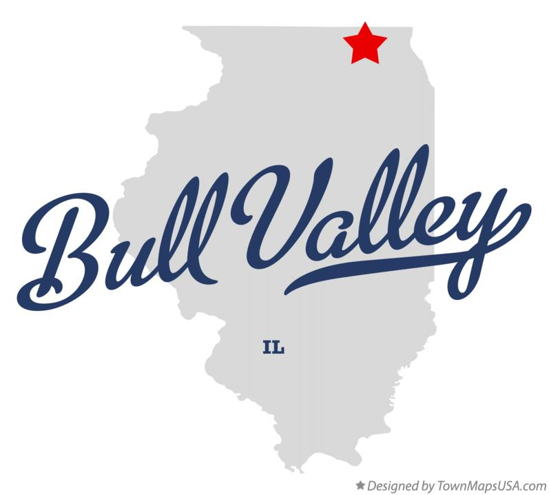 Map of Bull Valley Illinois IL