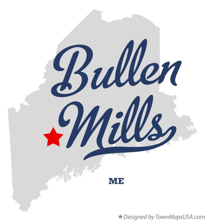 Map of Bullen Mills Maine ME